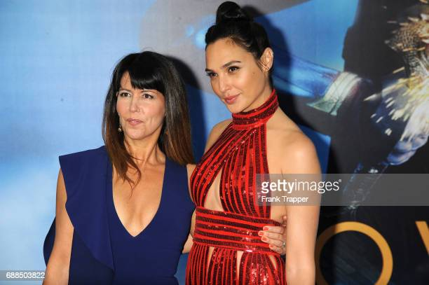 Director Patty Jenkins and actress Gal Gadot attend the premiere of Warner Bros Pictures 'Wonder Woman at the Pantages Theatre on May 25 2017 in...