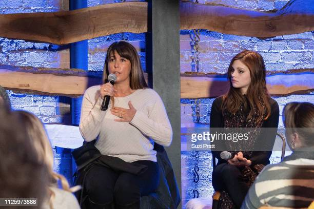Director Patty Jenkins and actress India Eisley speak on a panel at the 'I Am the Night' screening at Tupelo on January 25 2019 in Park City Utah