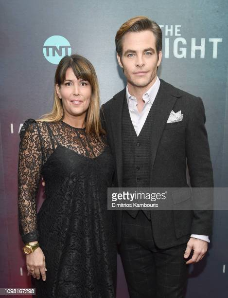 Director Patty Jenkins and Chris Pine attend the I Am The Night New York Premiere at Metrograph on January 22 2019 in New York City