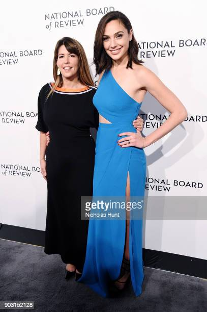 Director Patty Jenkins and Gal Gadot attend the 2018 National Board Of Review Awards Gala at Cipriani 42nd Street on January 9 2018 in New York City