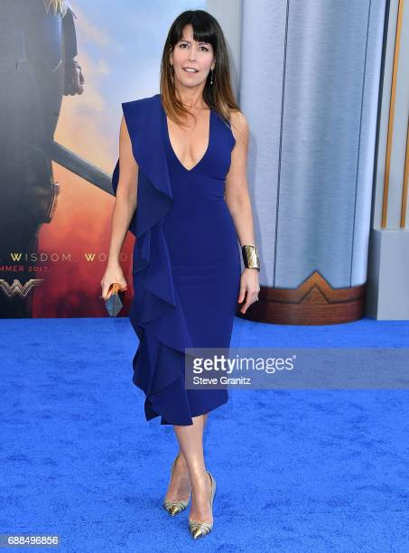 Director Patty Jenkins arrives at the Premiere Of Warner Bros Pictures' Wonder Woman at the Pantages Theatre on May 25 2017 in Hollywood California