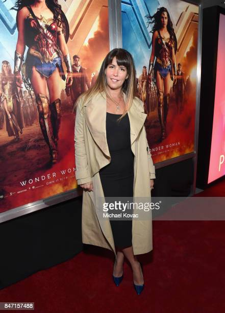 Director Patty Jenkins attends the Warner Bros Home Entertainment and Intel presentation of 'Wonder Woman in the Sky' at Dodger Stadium on September...