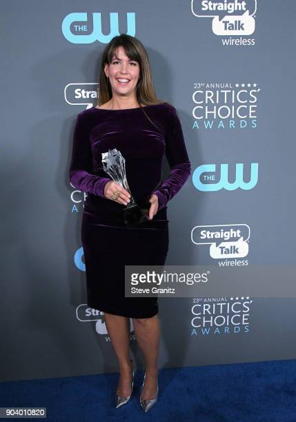Director Patty Jenkins recipient of the Best Action Movie award for 'Wonder Woman' poses in the press room during The 23rd Annual Critics' Choice...