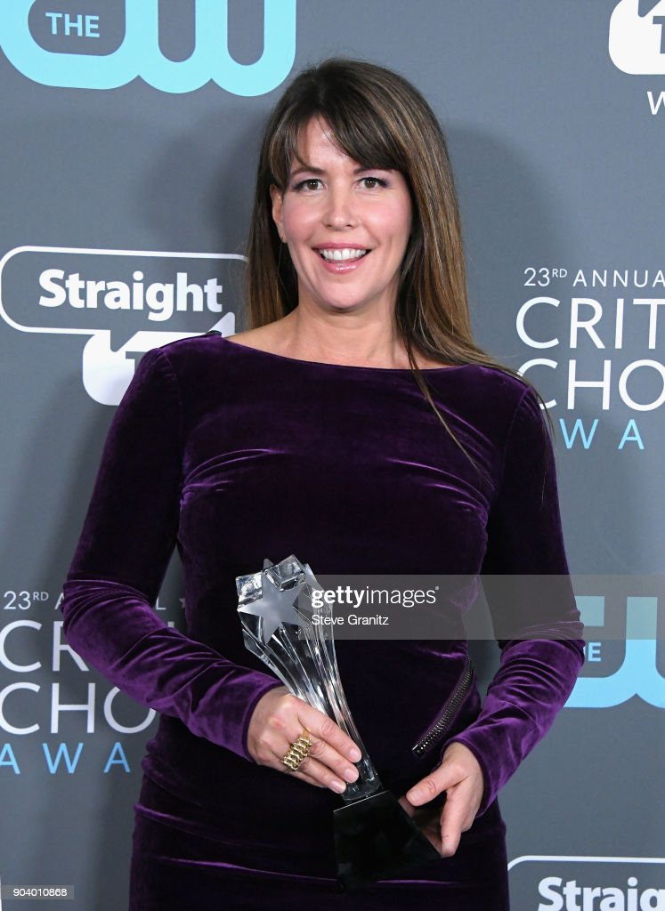 Director Patty Jenkins, recipient of the Best Action Movie award for 'Wonder Woman', poses in the press room during The 23rd Annual Critics' Choice Awards at Barker Hangar on January 11, 2018 in Santa Monica, California.