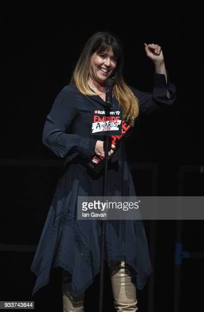 Director Patty Jenkins winner of the award for Best SciFi/ Fantasy for 'Wonder Woman' on stage during the Rakuten TV EMPIRE Awards 2018 at The...