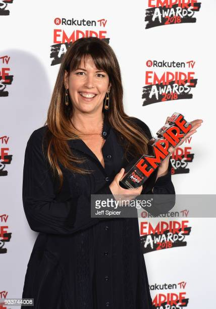 Director Patty Jenkins winner of the award for Best SciFi/ Fantasy for 'Wonder Woman' poses in the winners room at the Rakuten TV EMPIRE Awards 2018...