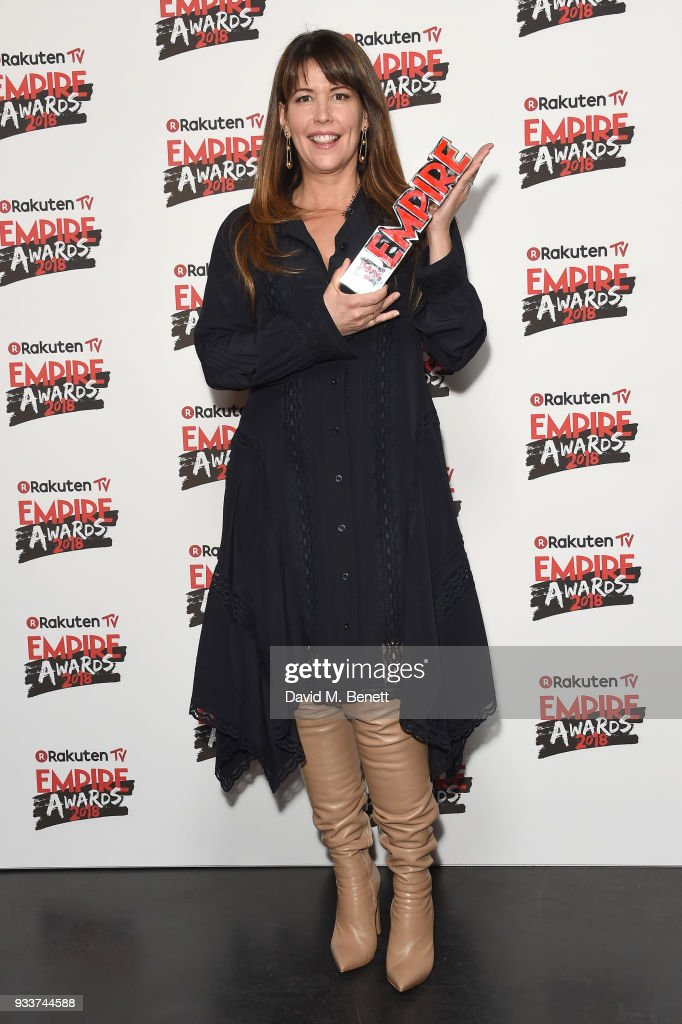 Director Patty Jenkins winner of the Best Sci-Fi/Fantasy award for 'Wonder Woman' poses in the winners room at the Rakuten TV EMPIRE Awards 2018 at The Roundhouse on March 18, 2018 in London, England.