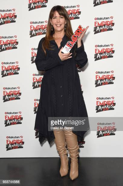 Director Patty Jenkins winner of the Best SciFi/Fantasy award for 'Wonder Woman' poses in the winners room at the Rakuten TV EMPIRE Awards 2018 at...