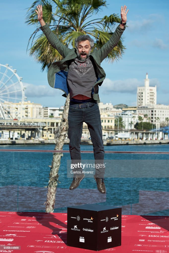 Director Pau Dura attends 'Formentera Lady' photocall during the 21th Malaga Film Festival on April 16, 2018 in Malaga, Spain.