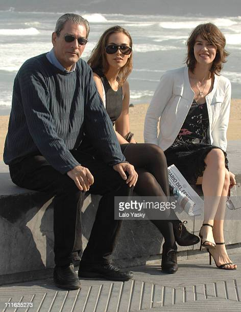 Director Paul Auster actress Sophie Auster and actress Irene Jacob attend a photocall for The Inner Life of Martin Frost at the Kursaal Palace on...