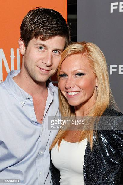 Director Paul Bernon and Ashley Bernon attend the SAG Indie Party during the 2012 Tribeca Film Festival at the Bowlmor Lanes on April 22 2012 in New...