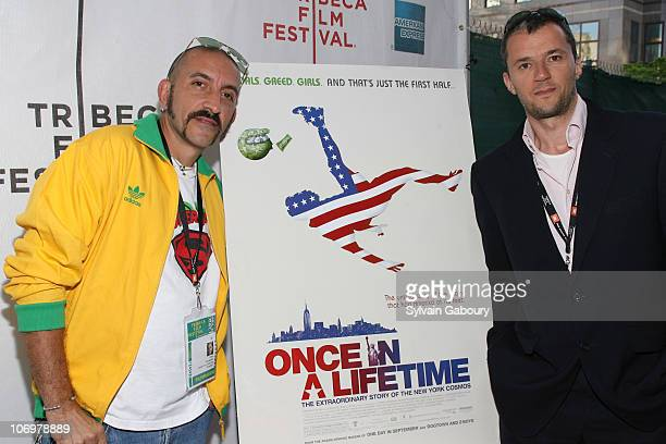 """Director, Paul Crowder and producer, John Battsek during The Tribeca Film Festival screening of Miramax Films' """"Once In A Lifetime: The Extraordinary..."""
