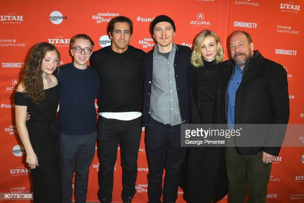 Director Paul Dano with cast Zoe Margaret Colletti Ed Oxenbould Jake Gyllenhaal Carey Mulligan and Bill Camp attend the Wildlife Premiere during the...
