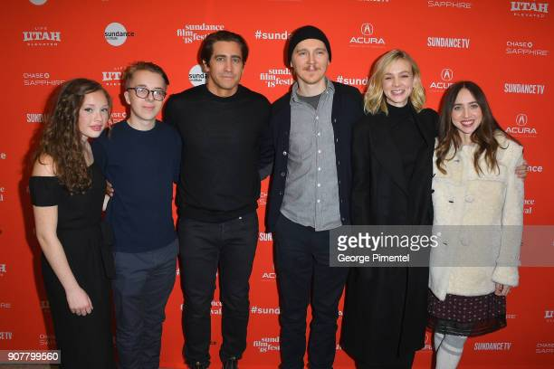 Director Paul Dano with cast Zoe Margaret Colletti Ed Oxenbould Jake Gyllenhaal Carey Mulligan and writer Zoe Kazan attend the Wildlife Premiere...