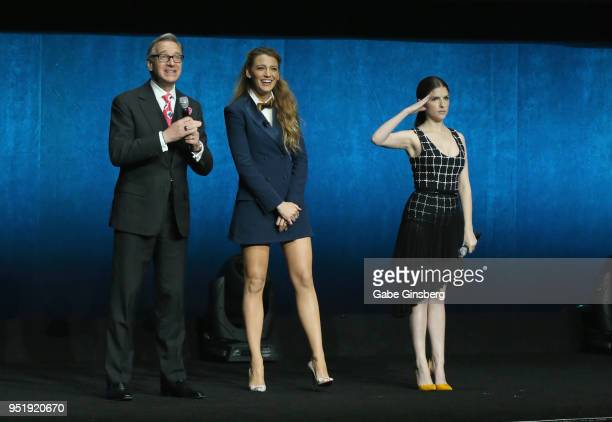 Director Paul Feig actresses Blake Lively and Anna Kendrick speak during CinemaCon 2018 Lionsgate Invites You to An Exclusive Presentation...