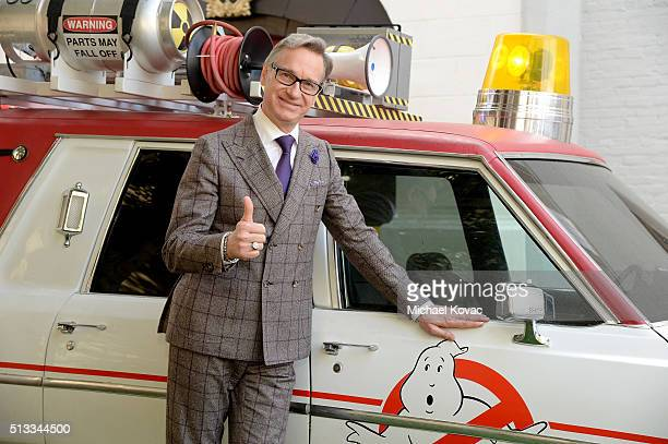 "Director Paul Feig attends the ""Ghostbusters"" Fan Event Photo Call at Sony Pictures Studios on March 2, 2016 in Culver City, California."