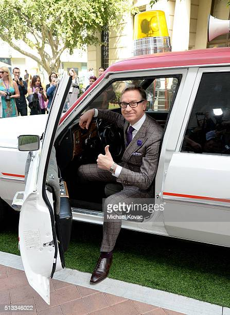 """Director Paul Feig attends the """"Ghostbusters"""" Fan Event Photo Call at Sony Pictures Studios on March 2, 2016 in Culver City, California."""