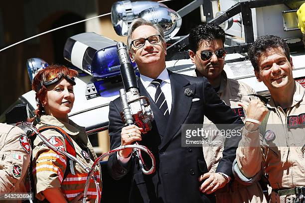 Director Paul Feig attends the 'Ghostbusters' photocall at La Casa Del Cinema on June 27 2016 in Rome Italy