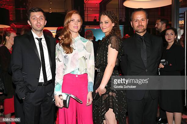 Director Paul Florian Mueller, Theresa von Eltz, Oona Devi Liebich and Ismail Sahin during the New Faces Award Film 2016 at ewerk on May 26, 2016 in...