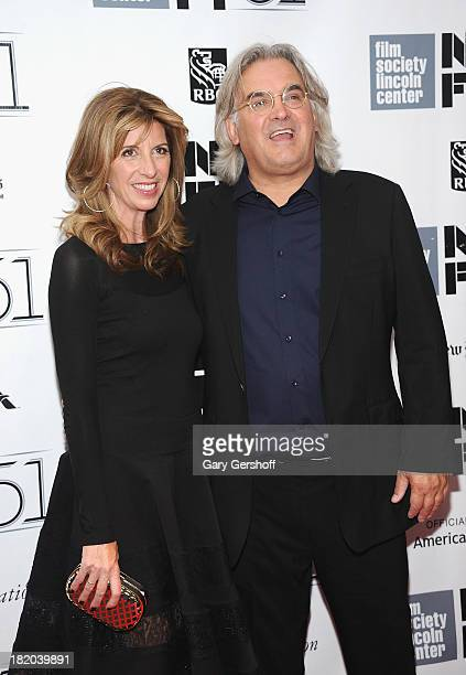 Director Paul Greengrass and Joanna Kaye attend the opening night gala world premiere of Captain Phillips during the 51st New York Film Festival at...