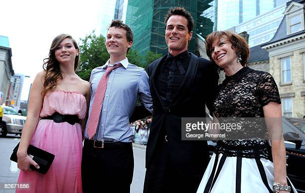 Director Paul Gross kids Hannah Gross Jack Gross and wife Martha Burns attends the Passchendael Premiere Opening Night Gala held at Roy Thomson Hall...