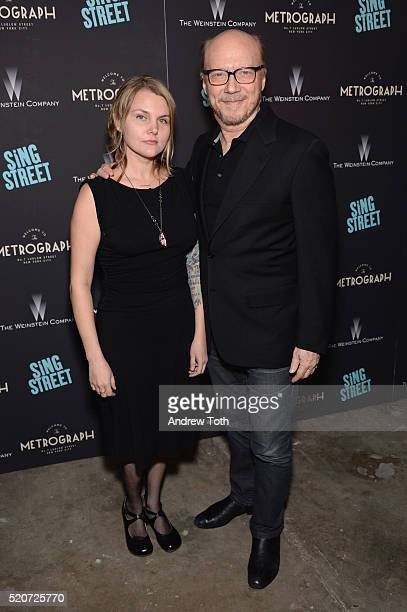 Director Paul Haggis and Alissa Sullivan arrive at The Weinstein Company hosts the premiere of 'Sing Street' at Metrograph on April 12 2016 in New...