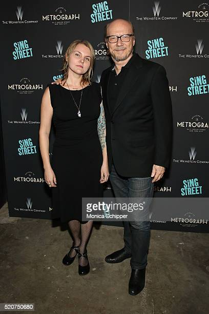 Director Paul Haggis and Alissa Sullivan attend The Weinstein Company Hosts The Premiere of 'Sing Street' at Metrograph on April 12 2016 in New York...