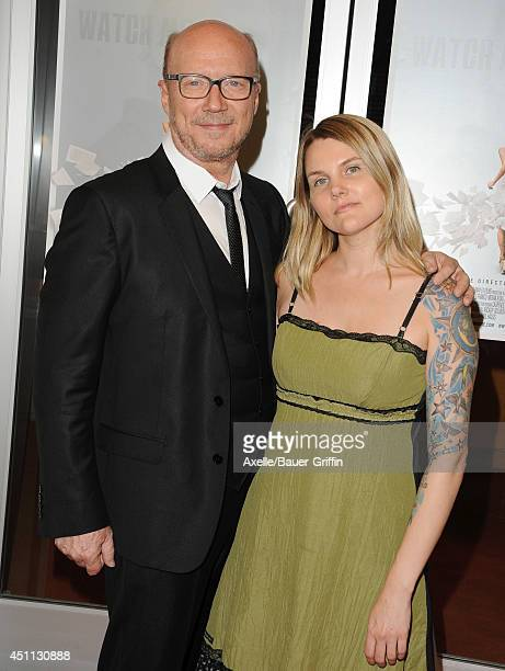 Director Paul Haggis and daughter Alissa Haggis arrive at the Los Angeles premiere of 'Third Person' at Pickford Center for Motion Study on June 9...