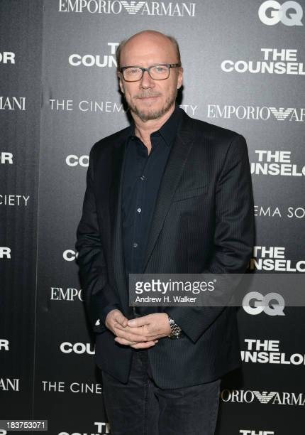 Director Paul Haggis attends Emporio Armani With GQ And The Cinema Society Host A Screening Of 'The Counselor' at Crosby Street Hotel on October 9...