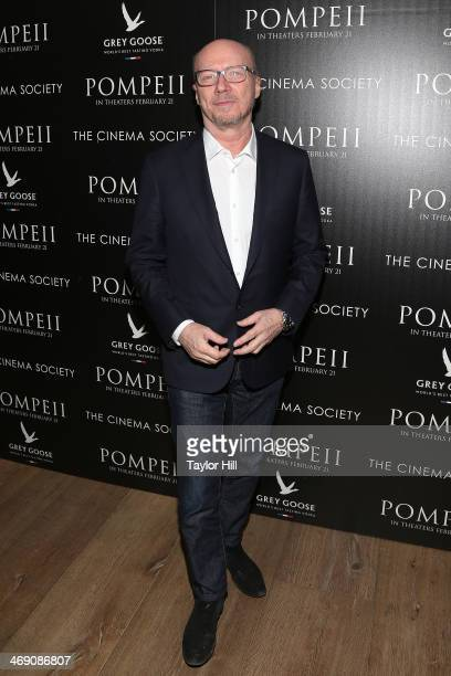 Director Paul Haggis attends the Pompeii screening hosted by TriStar Pictures with the Cinema Society and Grey Goose at Crosby Street Hotel on...