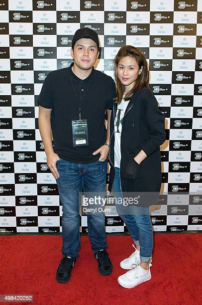Director Paul Soriano and Actress Toni Gonzaga pose for a picture at the 2015 Honolulu International Film Fesitval on November 22 2015 in Honolulu...