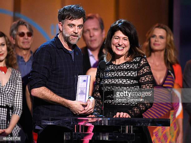 Director Paul Thomas Anderson and casting director Cassandra Kulukundis accept the Robert Altman Award for 'Inherent Vice' onstage during the 2015...
