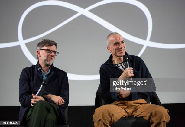Director Paul Thomas Anderson and Daniel DayLewis attend an exclusive screening and QA of 'Phantom Thread' hosted by Universal Pictures in...