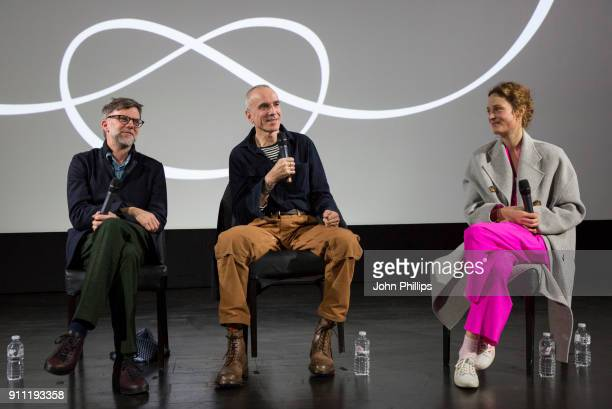 Director Paul Thomas Anderson Daniel DayLewis and Vicky Krieps attend an exclusive screening and QA of 'Phantom Thread' hosted by Universal Pictures...