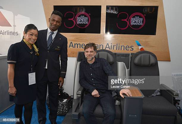 Director Paul Thomas Anderson is seen inside the American Airlines lounge during the 30th Annual Film Independent Spirit Awards at Santa Monica Beach...
