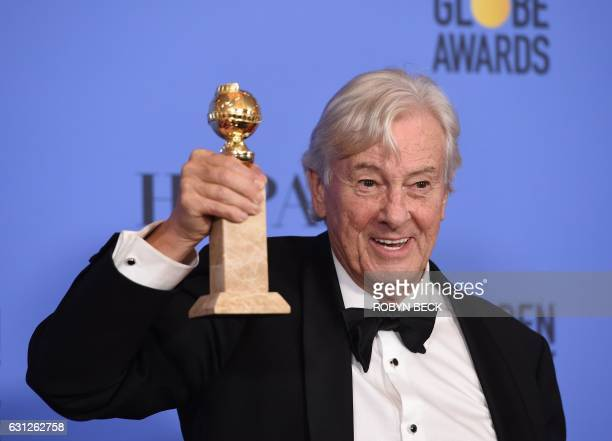 Director Paul Verhoeven, winner of Best Foreign Language Film for 'Elle,' poses in the press room during the 74th Annual Golden Globe Awards at The...
