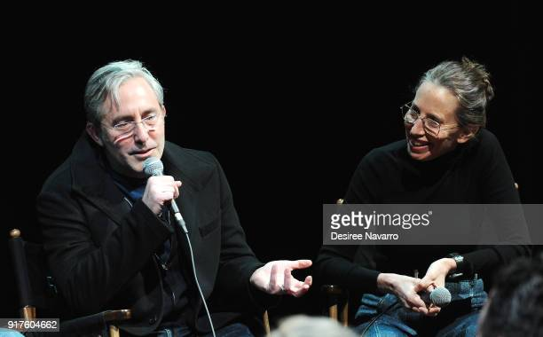 Director Paul Weitz and executive producer Caroline Baron attend SAGAFTRA Foundation Conversations 'Mozart In The Jungle' at The Robin Williams...