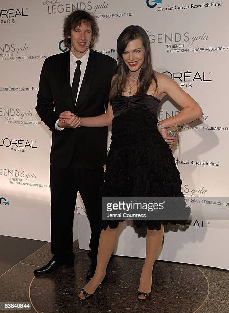 Director Paul WS Anderson and actress Milla Jovovich attends the L'Oreal Legends Gala to Benefit The Ovarian Cancer Research Fund at American Museum...