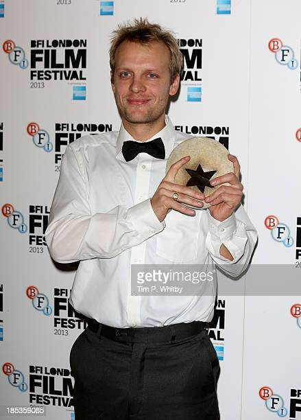 Director Paul-Julien Robert, winner of the Grierson award at the BFI London Film Festival Awards at the BFI London Film Festival Awards during the...