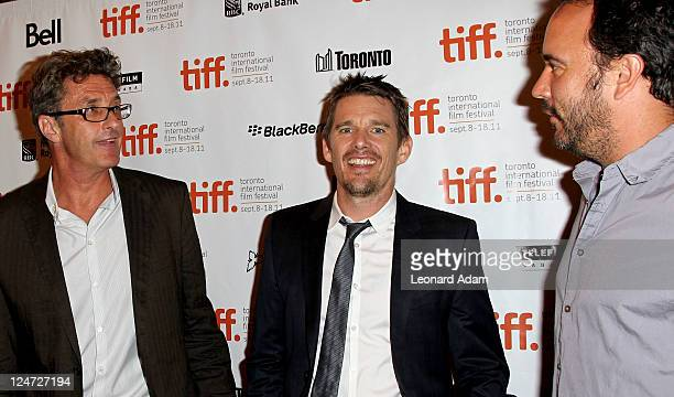 Director Pawel Pawlikowski actor Ethan Hawke and musician/actor Dave Matthews attend the premiere of 'The Woman In The Fifth' at Winter Game Theatre...