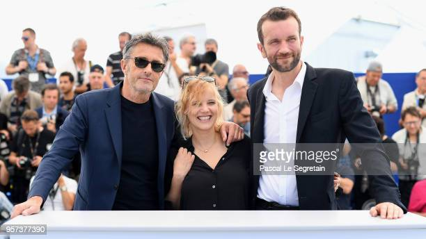 "Director Pawel Pawlikowski, actress Joanna Kulig and actor Tomasz Kot attend the photocall for ""Cold War "" during the 71st annual Cannes Film..."