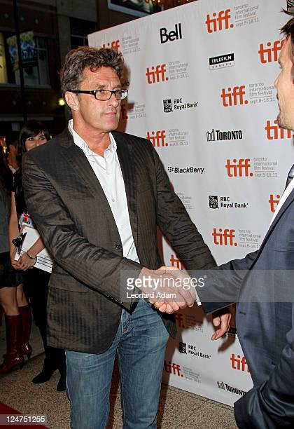 Director Pawel Pawlikowski and actor Ethan Hawke arrive at the premiere of 'The Woman In The Fifth' at Winter Game Theatre during the 2011 Toronto...