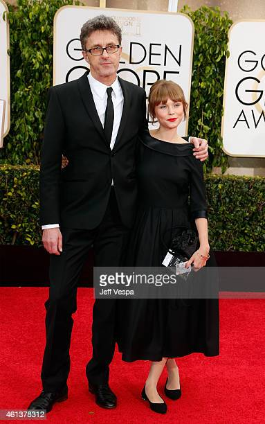 Director Pawel Pawlikowski and actress Agata Trzebuchowska attend the 72nd Annual Golden Globe Awards at The Beverly Hilton Hotel on January 11, 2015...