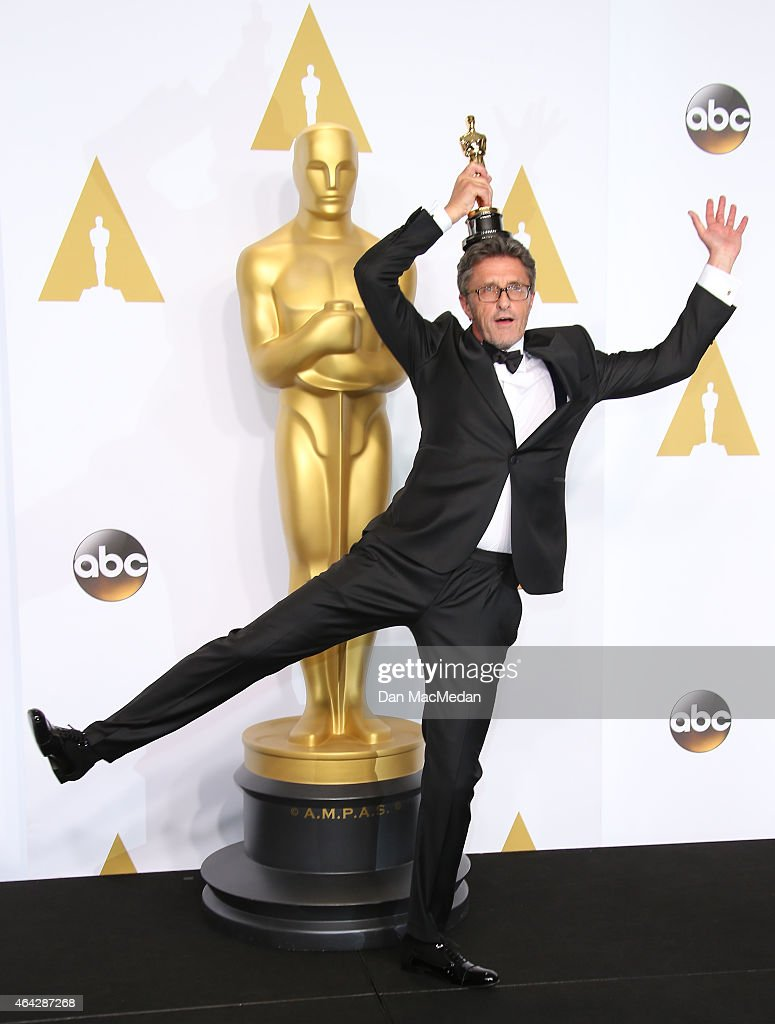Director Pawel Pawlikowski poses in the press room with the award for Best Foreign Language Film at the 87th Annual Academy Awards at Hollywood & Highland Center on February 22, 2015 in Los Angeles, California.
