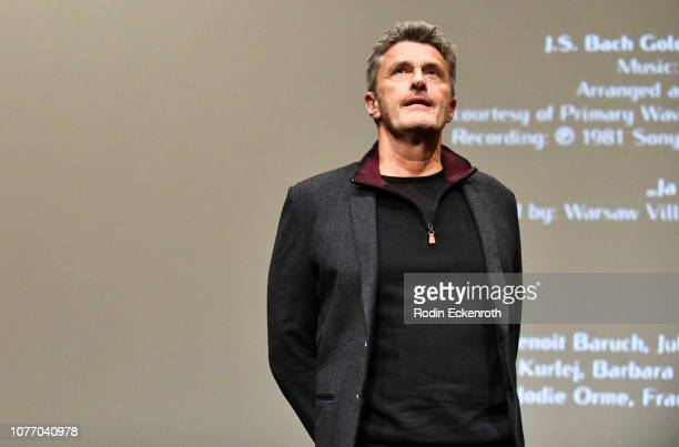 Director Pawel Pawlikowski speaks onstage at MoMA Contenders 2018 Screening and QA of Cold War at Hammer Museum on December 03 2018 in Los Angeles...