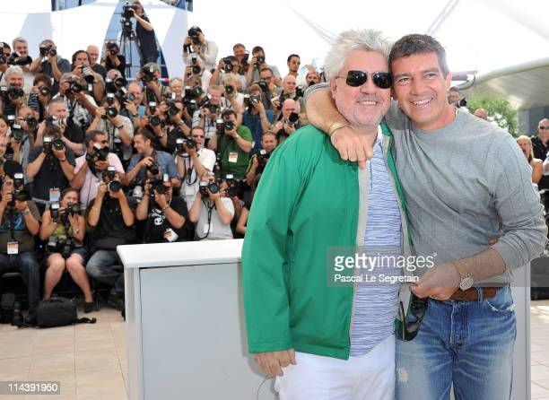 Director Pedro Almodovar and actor Antonio Banderas attend The Skin I Live In Photocall at Palais des Festivals during the 64th Cannes Film Festival...
