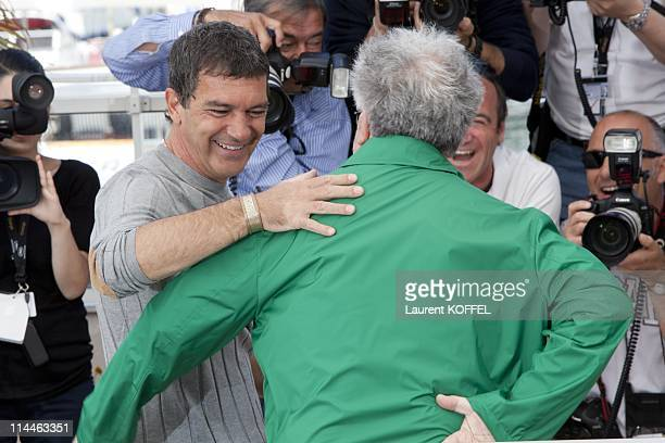 Director Pedro Almodovar and actor Antonio Banderas attend 'The Skin I Live In' Photocall at Palais des Festivals during the 64th Cannes Film...