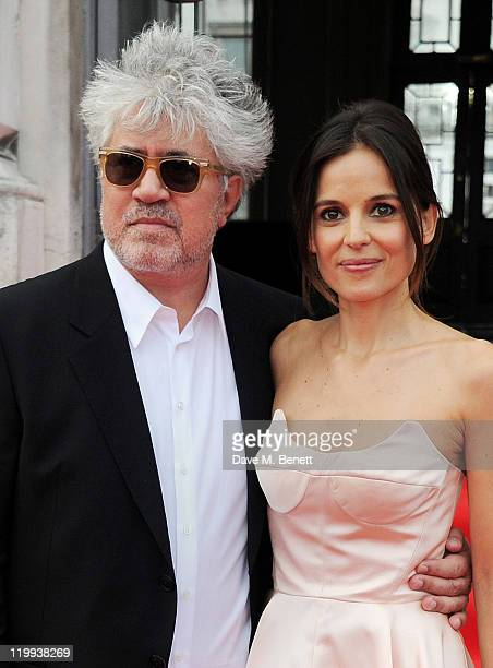 Director Pedro Almodovar and actress Elena Anaya arrive at the UK Premiere of 'The Skin I Live In' opening the Film4 Summer Screen with American...