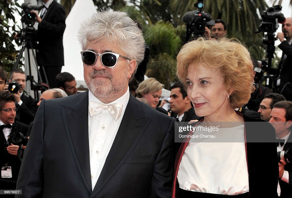 Director Pedro Almodovar and actress Marisa Paredes attend the 'You Will Meet A Tall Dark Stranger' Premiere held at the Palais des Festivals during the 63rd Annual International Cannes Film Festival on May 15, 2010 in Cannes, France.