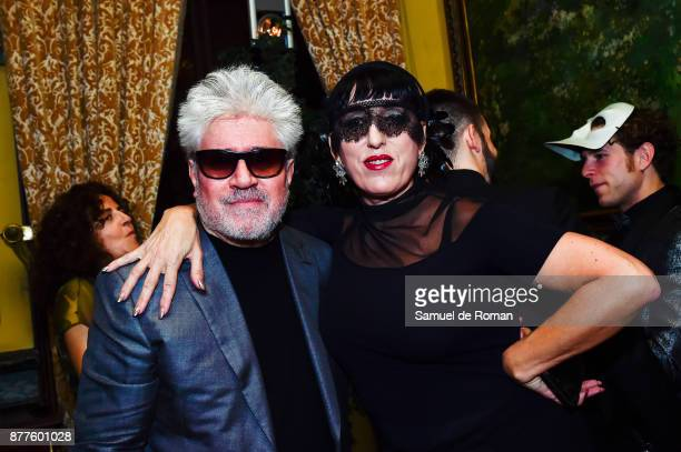 Director Pedro Almodovar and actress Rossy de Palma attend Dior Ball Party at Santona Palace on November 22 2017 in Madrid Spain